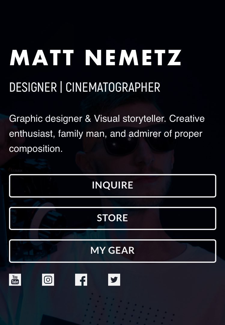 My personal website is now LIVE! You can inquire or check out my online store all in one convenient spot. #personalbranding  http://www. mattnemetz.com  &nbsp;  <br>http://pic.twitter.com/BtXC9XE7wN