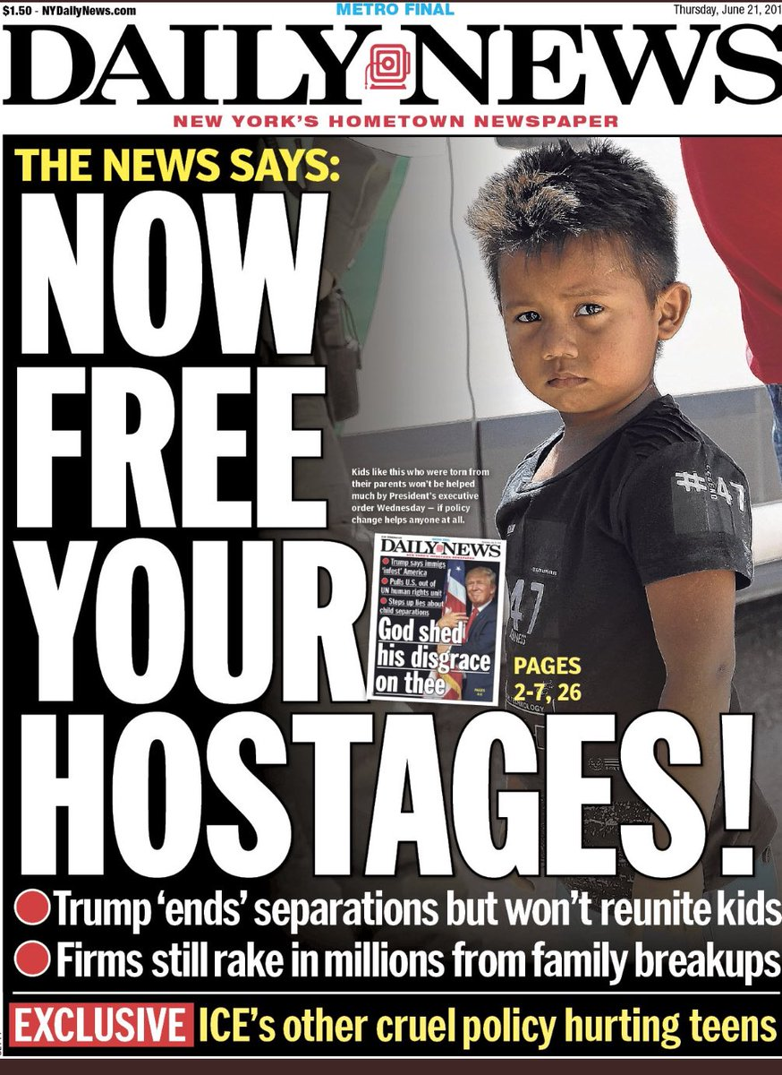 Tomorrow's front page tonight. How far from normal have we been led by a cruel moron? <br>http://pic.twitter.com/GPo4xISaGK