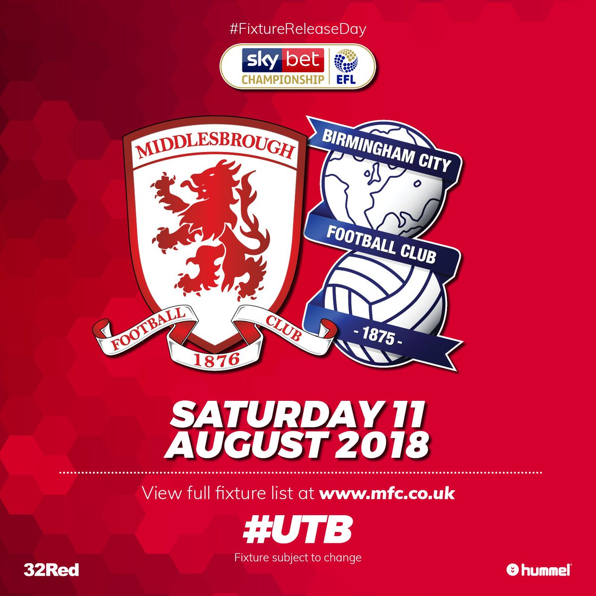 .@BCFC are first up at the Riverside 🏠🏟️ #UTB #FixtureReleaseDay