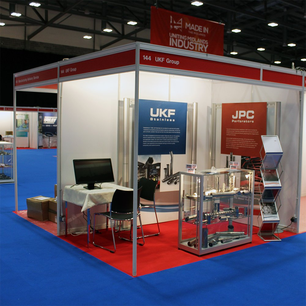 If you&#39;re in Coventry, make sure you visit @madeinthemids Exhibition today.  We will be at the event all day showcasing the best of our @UKFStainlessLtd &amp; @JPCPerforators. You can find us at Stand 144 (UKF Group) - just as you walk in to the exhibition hall. #MiMExpo2018 #ukmfg <br>http://pic.twitter.com/XoNftmyhCQ
