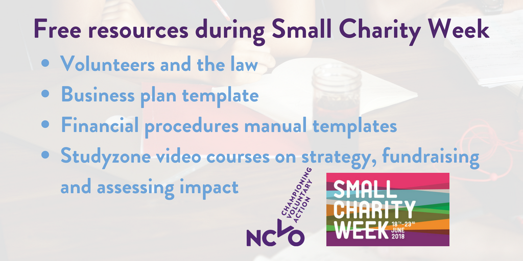 ncvo volunteering on twitter it s smallcharityweek to celebrate