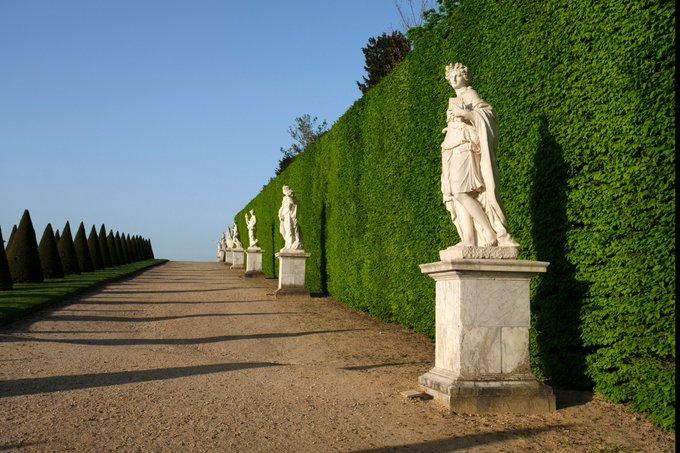 #JeudiPhoto Perspective matinale dans les jardins du Château ☀️ Photo
