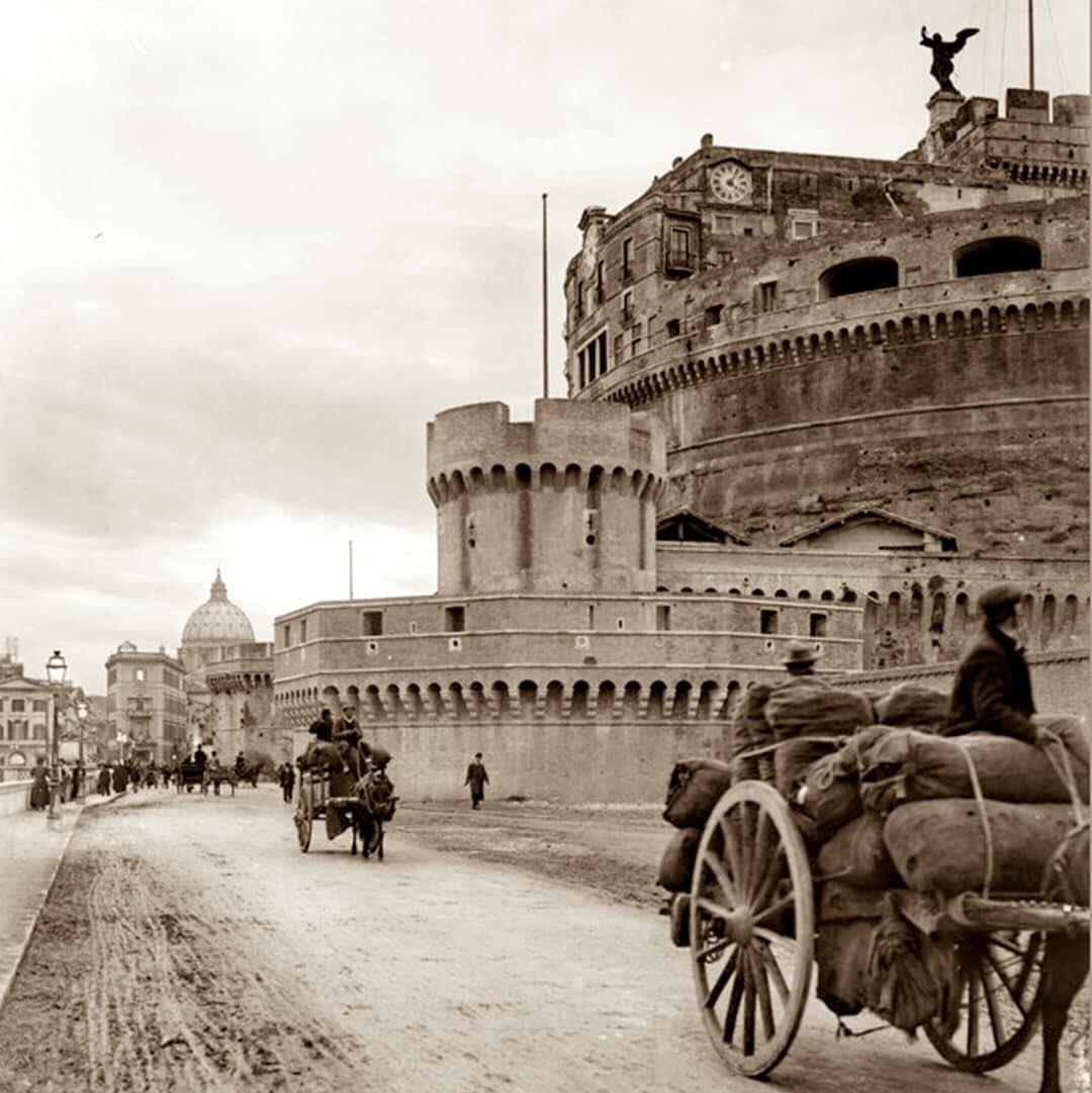 Carrettieri a Castello ...primi 900..il fascino del passato 😎 #indietroneltempo