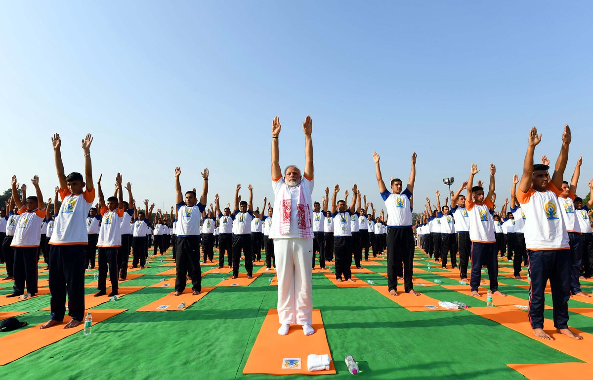 I urge people around to world to embrace Yoga.   I also request people to share the joys of Yoga with others by teaching Yoga particularly to today's youth. This way we can create a healthier planet.