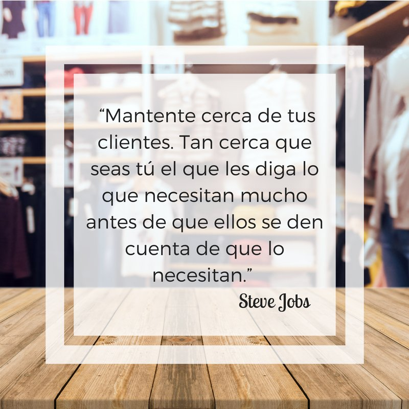 &quot;Stay close to your customers. So close that you are the one that tells them what they need long before they realize they need it. &quot;  Steve Jobs  #eCommerce #MarketingDigital #FelizJueves #Barcelona<br>http://pic.twitter.com/oRUftbkJx6