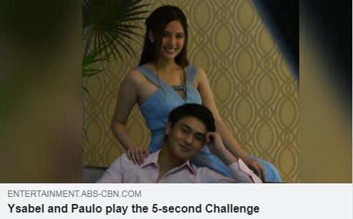 Can they give three answers in five seconds? Find out who won between Paulo and Ysabel in this challenge! Watch the video BELOW: bit.ly/2ywyTXW