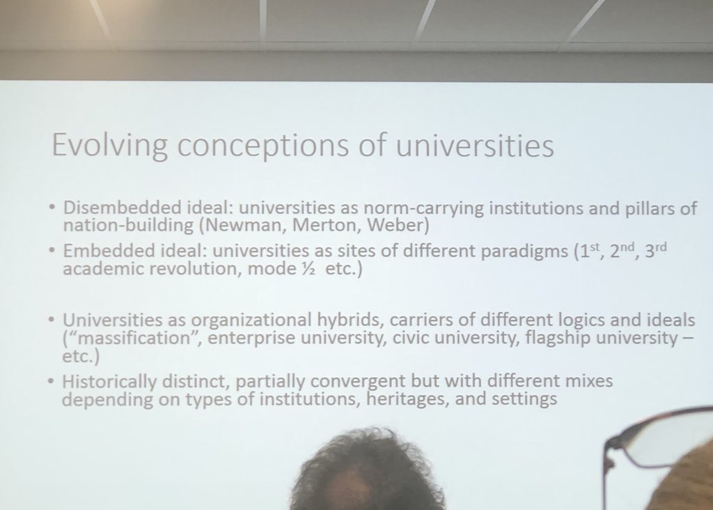 Such a wonderful and interesting presentation by Prof Mats Benner today. Loved the discussion around #university models and how #engagement depends on the specific model #HigherEducation @lunduniversity @IFE_QUT #researchimpact <br>http://pic.twitter.com/q4ZkOQEw23