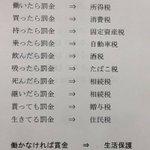 言い得て妙w日本で生きることは「税」と言う名の罰金を払うこと!