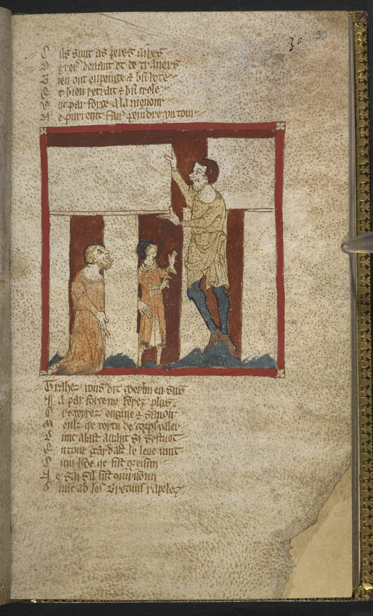 Our choice of #ManuscriptOfTheDay for Midsummer #SummerSolstice? None other than the Roman de Brut, containing this 14th-century image of Stonehenge, being built by Merlin, no less. Egerton MS 3028 blogs.bl.uk/digitisedmanus… bl.uk/manuscripts/Fu…