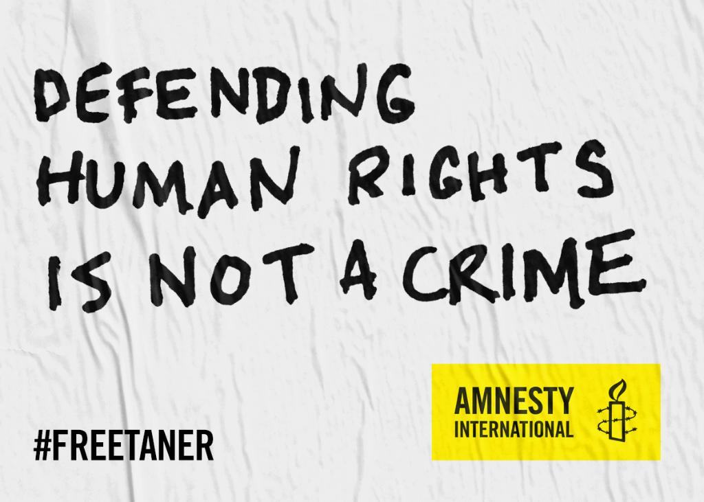 Our colleague & friend  has#TanerKılıç been wrongfully imprisoned in  for#Turkey a whole year, although he is innocent. Defending human rights should NOT put you behind bars. Show your support for Tanner now,  imm#FreeTanerediately → https://t.co/GeLPoOp3mK