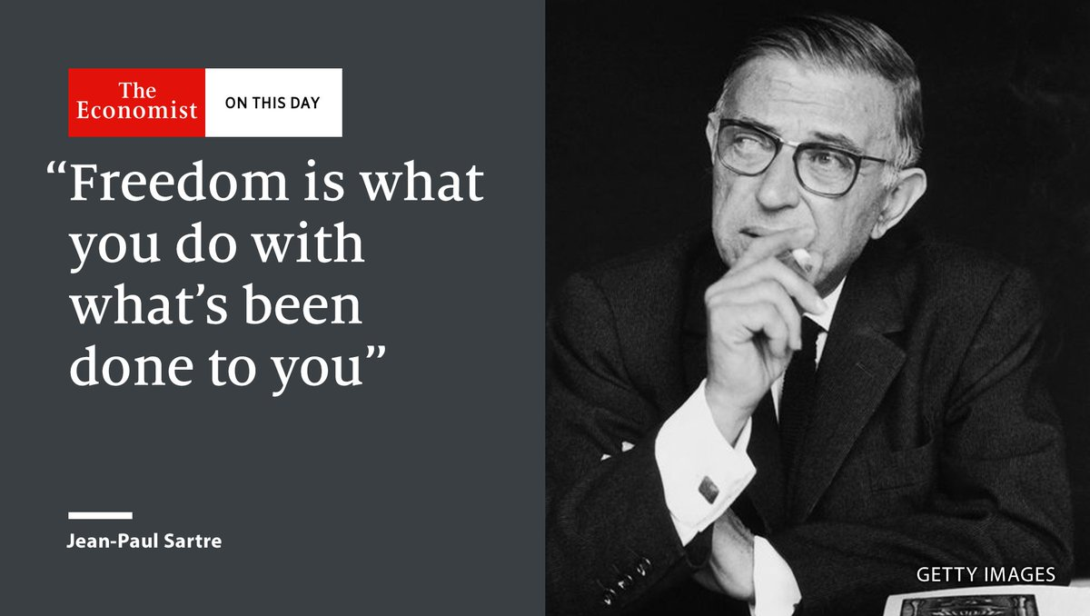 French existentialist philosopher Jean-Paul Sartre was born on this day in 1905 https://t.co/vCfPH2pFXt