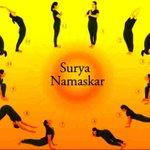 surya namaskar Twitter Photo