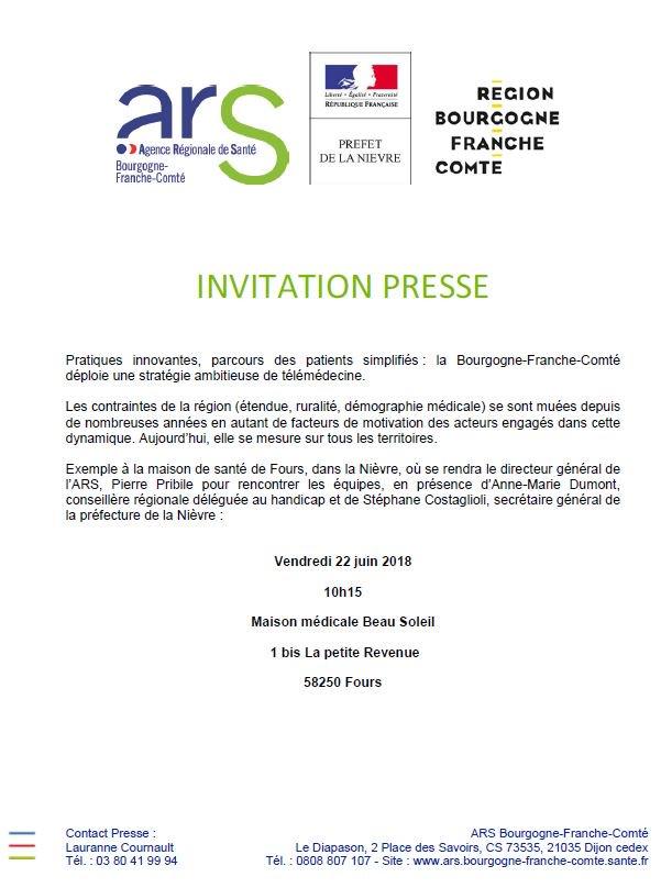 Ars Bfc On Twitter Presse Telemedicine Esante Bfc Region