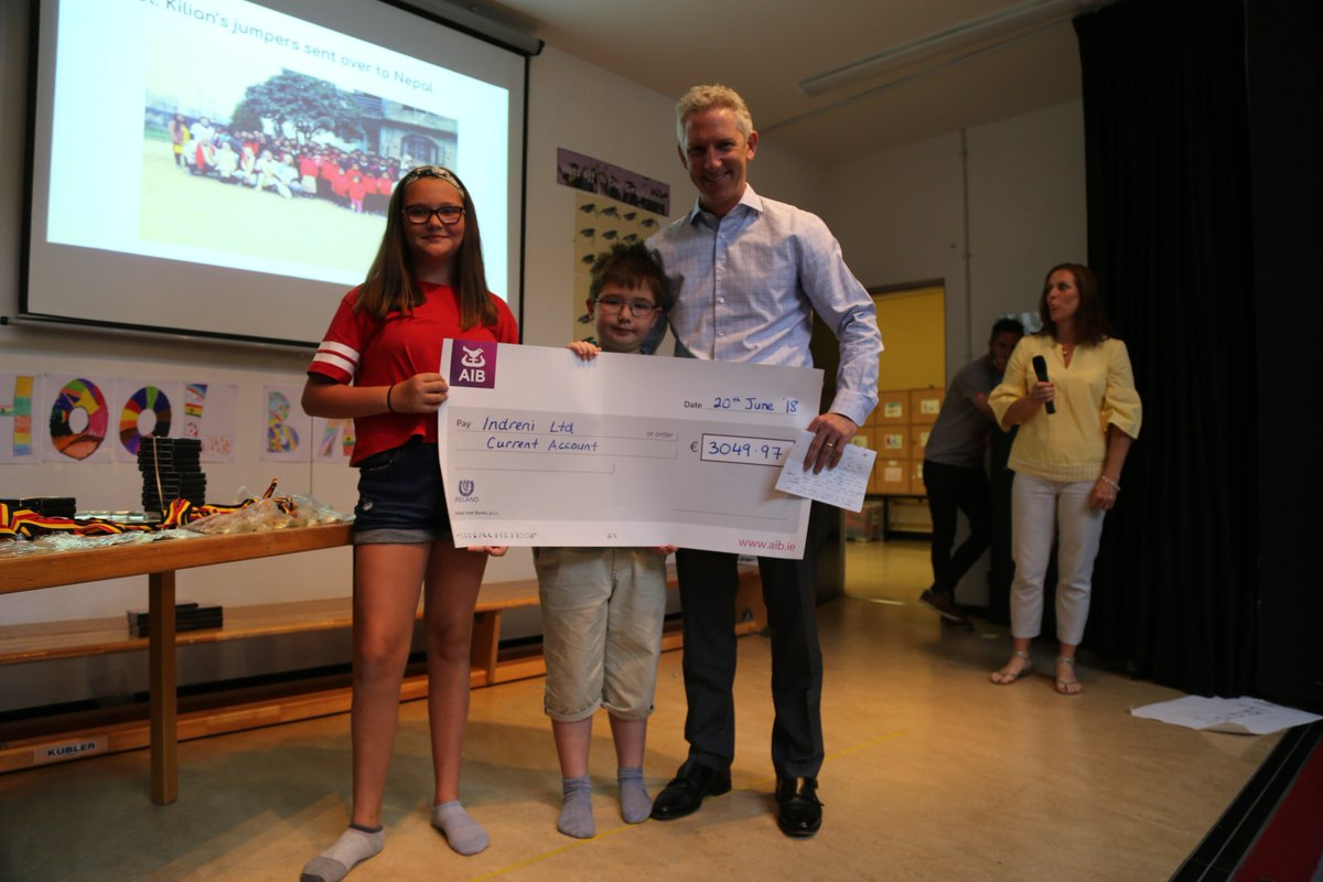 test Twitter Media - Many thanks to Conor McCarthy from @IndreniChildren for coming to our school yesterday. Our pupils were proud to present him with a cheque of over €3000 which had been raised through various initiatives. Thank you to everyone who contributed! #fundraising @SiobhanCollin28 https://t.co/NnkbB8NwsO