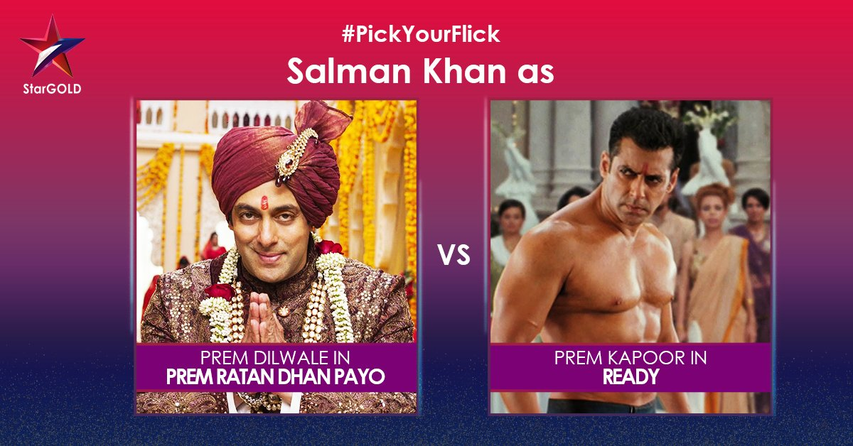 Watch two of Sallu Bhais films in one day! Which one is your favourite? #PickYourFlick