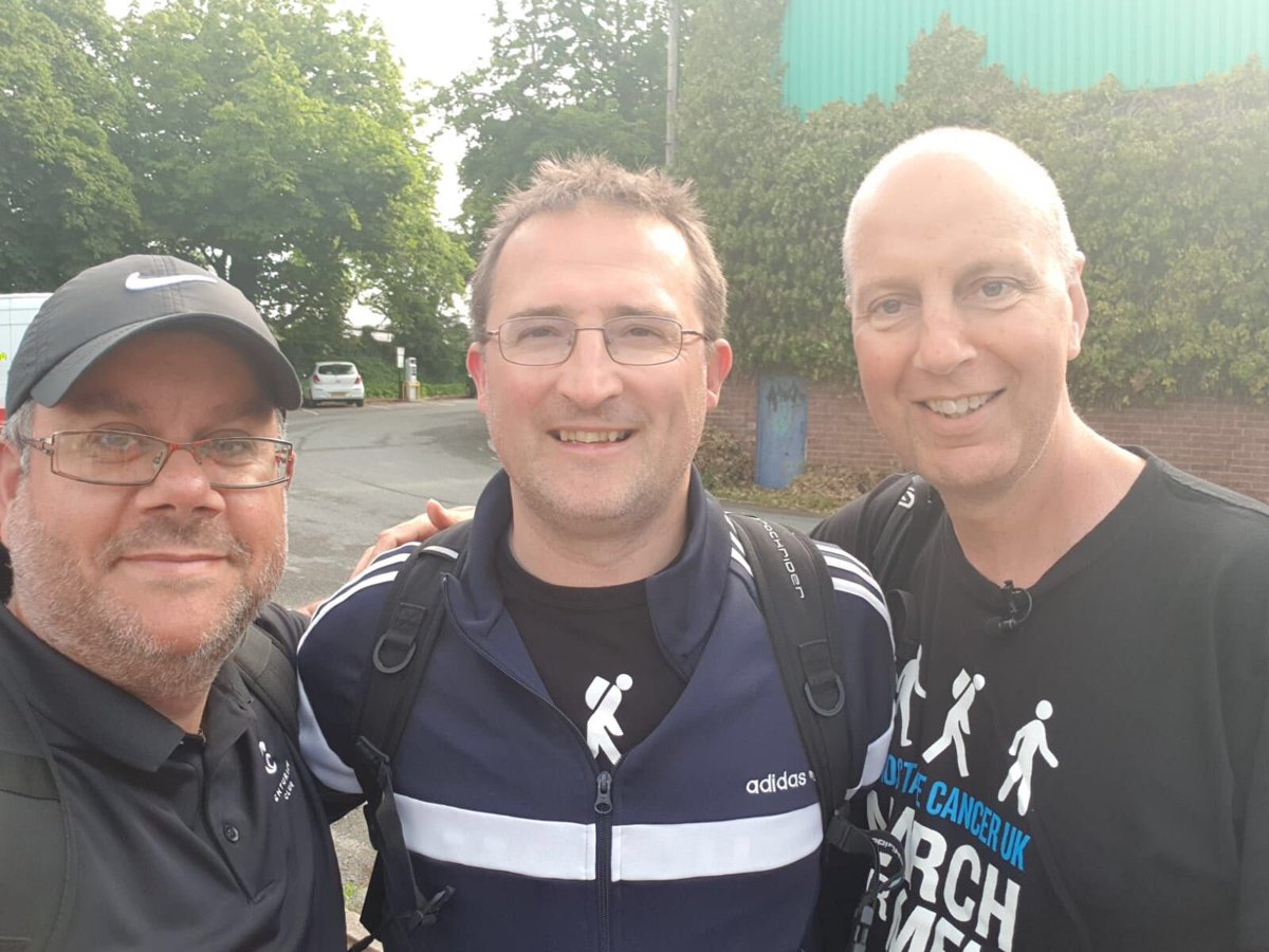 "🚶🏻‍♂️⚽️👏| Congratulations to CEO Michael Tattersall and Prostate Cancer UK Ambassador Kevin Webber for completing the ""7 marathons in 7 business days"" challenge on Tuesday! Donate: justgiving.com/Michael-Tatter… The pair were joined on the final leg by Vanarama's Steve Mark."