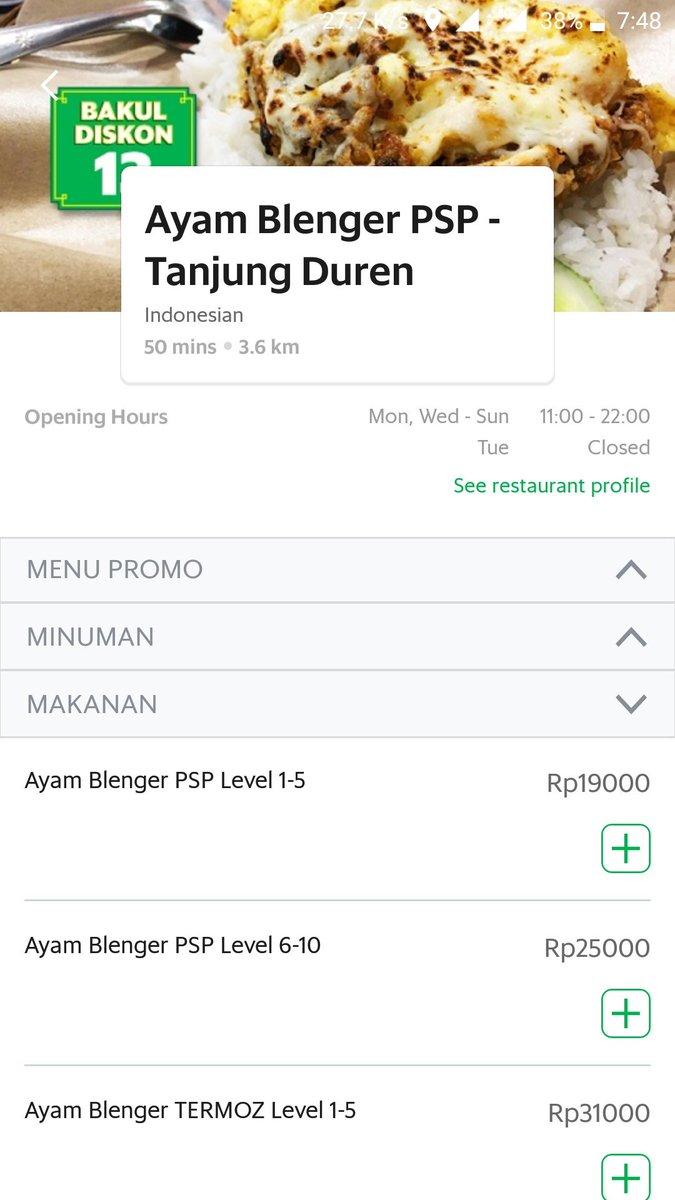 Grab Indonesia On Twitter Ayam Blenger Psp Makanan Yang Ini Sih Udah Gak Usah Ditanya Lagi Ayam Blenger Yang Gak Bikin Blenger Bosan Level Pedesnya Juga Parah Sih Untuk Kesediaan Bisa Cek