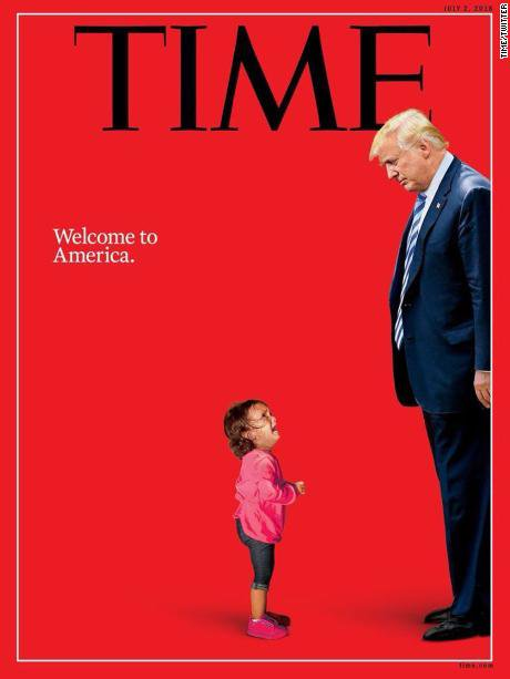 'Welcome to America': TIME magazine announces its new cover that shows President Trump and the two-year-old Honduran girl crying at the US-Mexico border https://t.co/niOzBEzLzr