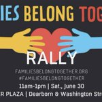 Image for the Tweet beginning: Families Belong Together Rally -
