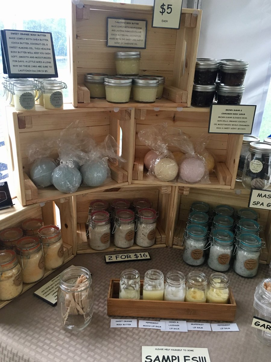 Eli's Farm Stand is open even in the rain! Check out artisan soap and lotions from Natural Vibes Skin Care ⬇️⬇️⬇️