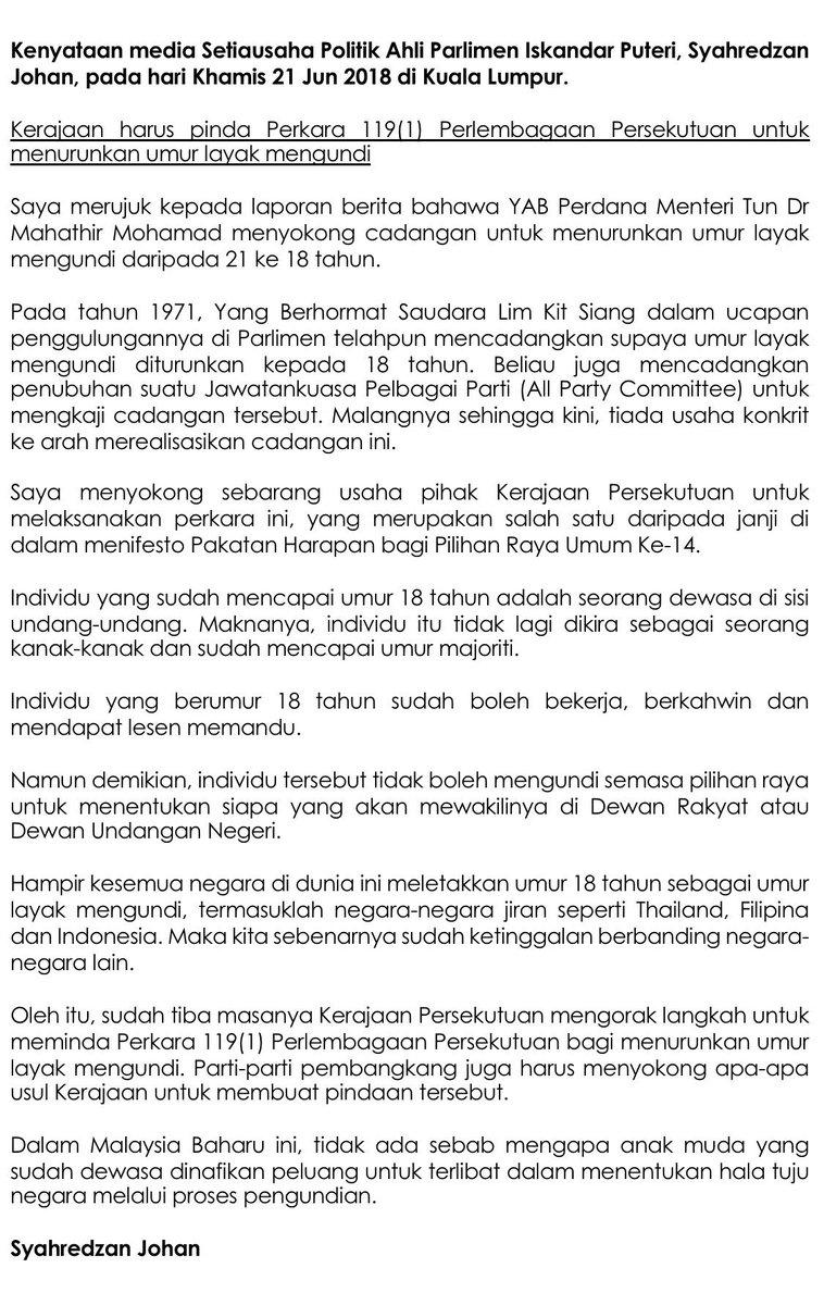Syahredzan Johan On Twitter I Fully Support This