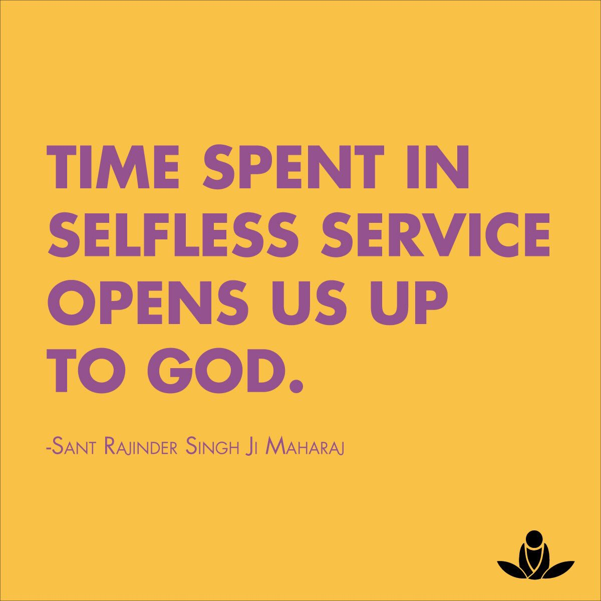 Sos Meditate On Twitter Time Spent In Selfless Service Opens Us