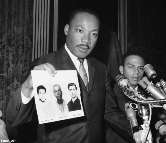 #OnThisDay in 1964, James Earl Chaney, Andrew Goodman, and Michael Henry Schwerner were murdered in Neshoba County, MS, by a Klansman. The activists traveled to investigate a church burning, but were instead abducted, shot, then buried. #FreedomForward Photo