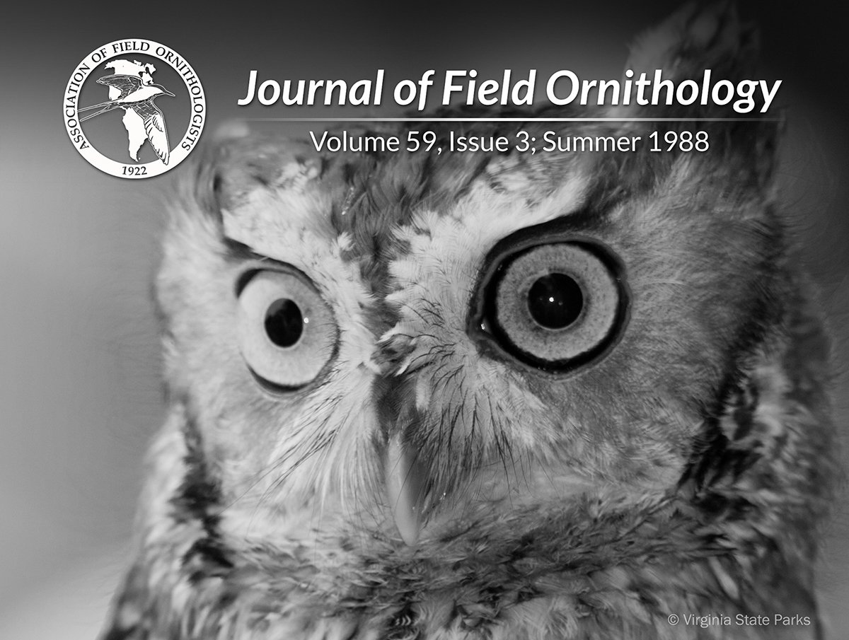 30 years ago from JFO: Comparative analysis of the effects of visual & auditory stimuli on avian mobbing behavior bit.ly/2MHIqON | #ThrowbackThursday #tbt #ornithology