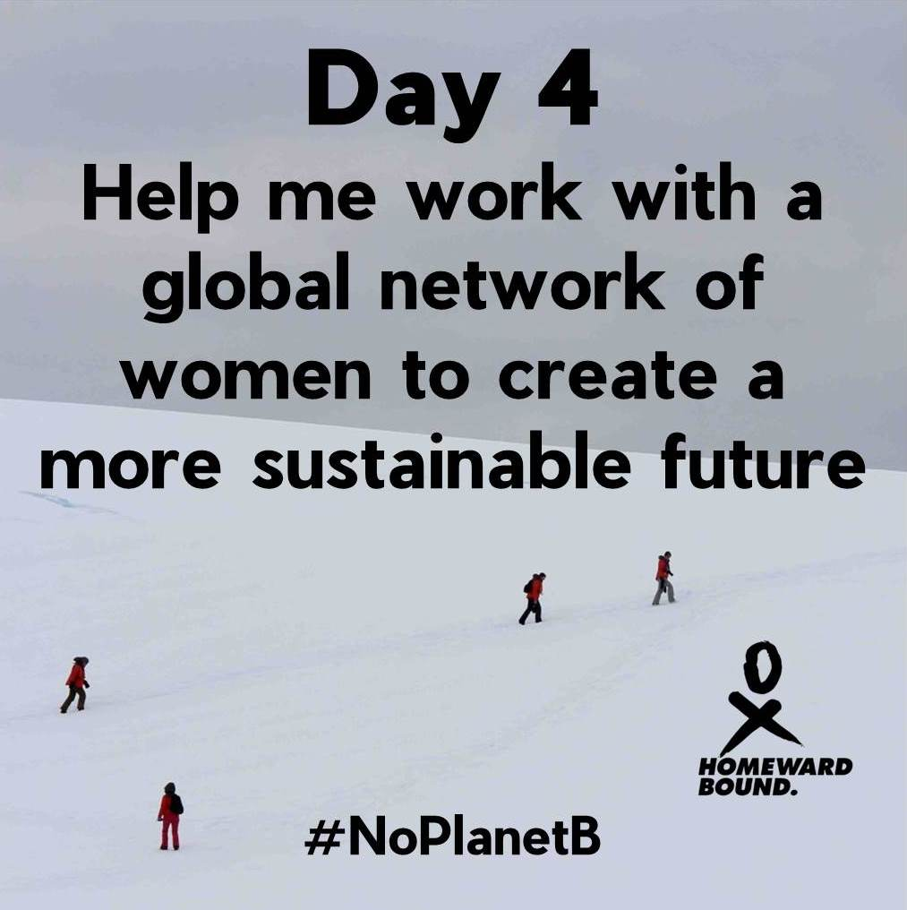 Day 4 of my 30 day campaign! Over halfway to Week 1 aim of raising £3000! Your support will build a #global network of #womeninSTEMM working to create a #sustainable future! @HomewardBound16  https:// chuffed.org/project/helenw ade-homewardbound &nbsp; …  #NoPlanetB #climatechange #TeamHB2019 #generationequal @Chuffed<br>http://pic.twitter.com/UW3fis7r2O