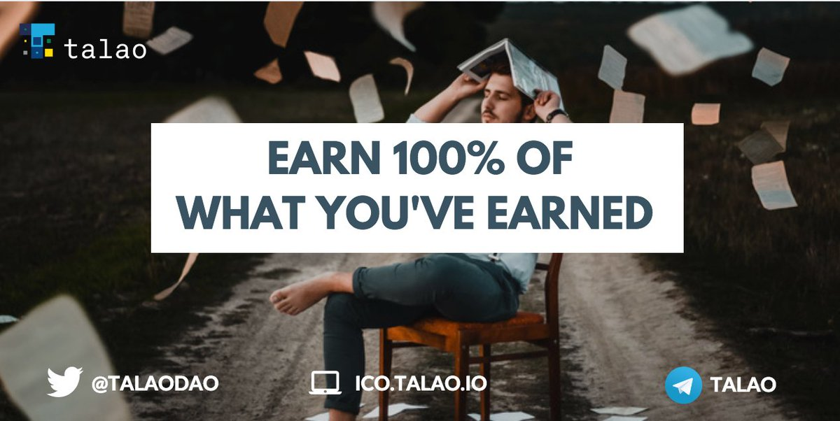Earn 100% of what you&#39;ve earned ? It&#39;s possible ! A 0% marketplace : this is the claim of @TalaoDAO the first Decentralized Autonomous Organisation dedicated to 100 millions of #freelancers. Check out our #ICO. The Public pre-sale is now open :  https:// buff.ly/2tz1Xvn  &nbsp;   #blockchain<br>http://pic.twitter.com/EBucUMxyrG
