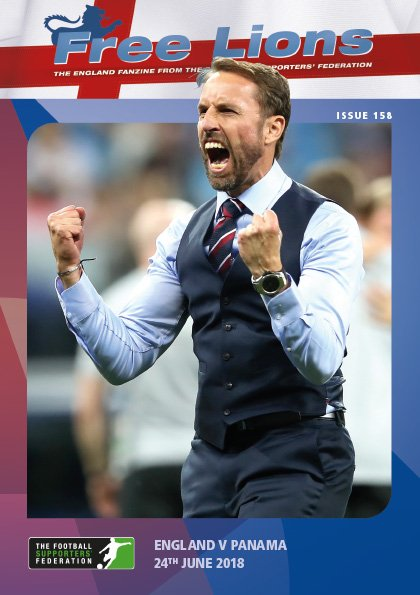 The next issue of Free Lions (Issue 158: England v Panama in Nizhny Novgorod) is at the printers. Heres a sneak peak at the cover to whet your appetite. 💪💪 #ENG @The_FSF @FA