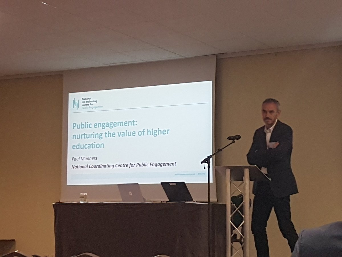 Paul Manners @NCCPE presents to the Keele Celebrating Research Impact Conference on public engagement and nurturing the value of higher education @KeeleUniversity #KeeleImpact #researchimpact #publicengagement<br>http://pic.twitter.com/hIWp5eOmpJ