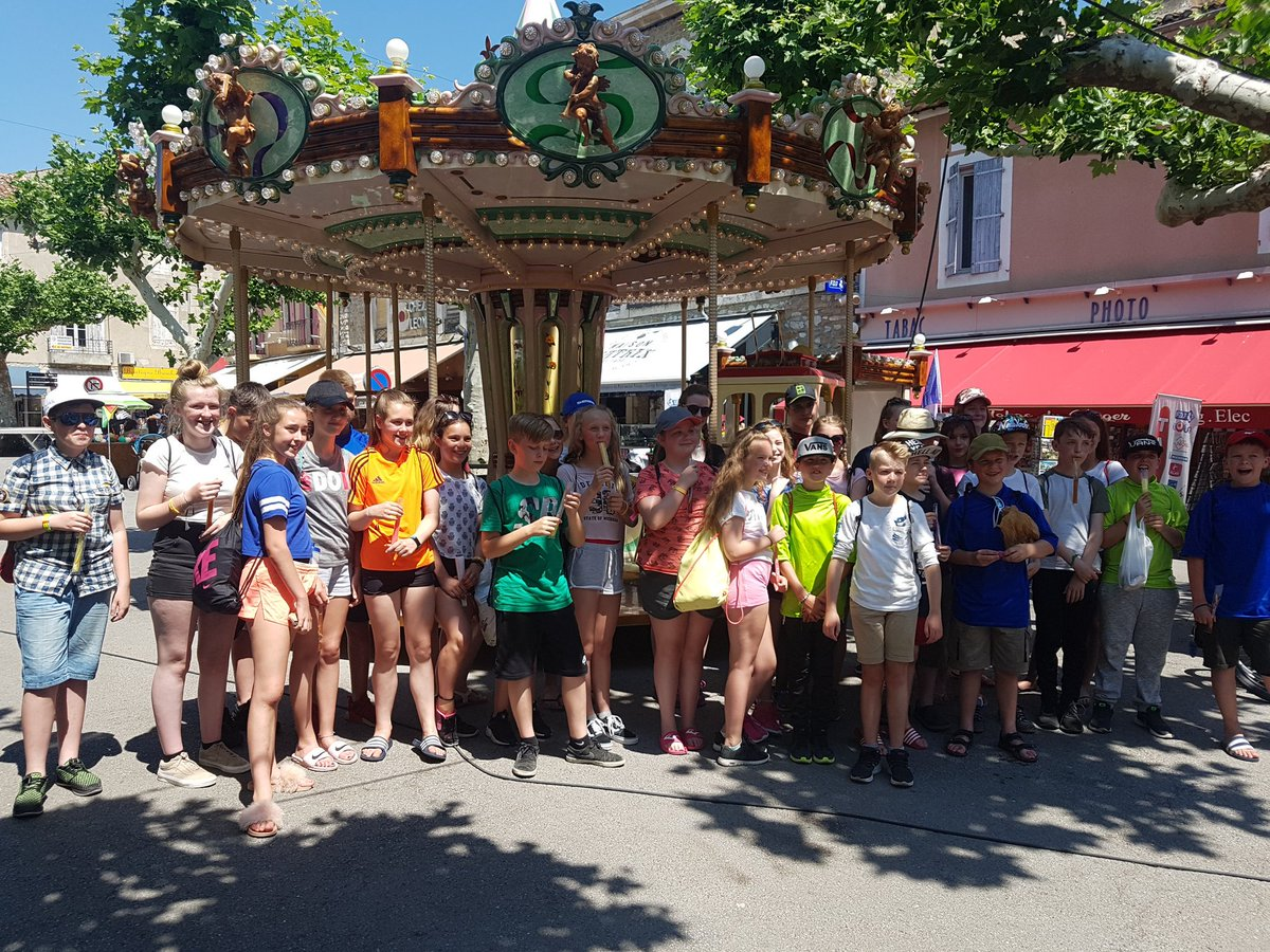 Shopping in Vallon this morning. Now on to the beach at Pont de Arc.  #FranceResilienceCamp2018  @braytonacademy1