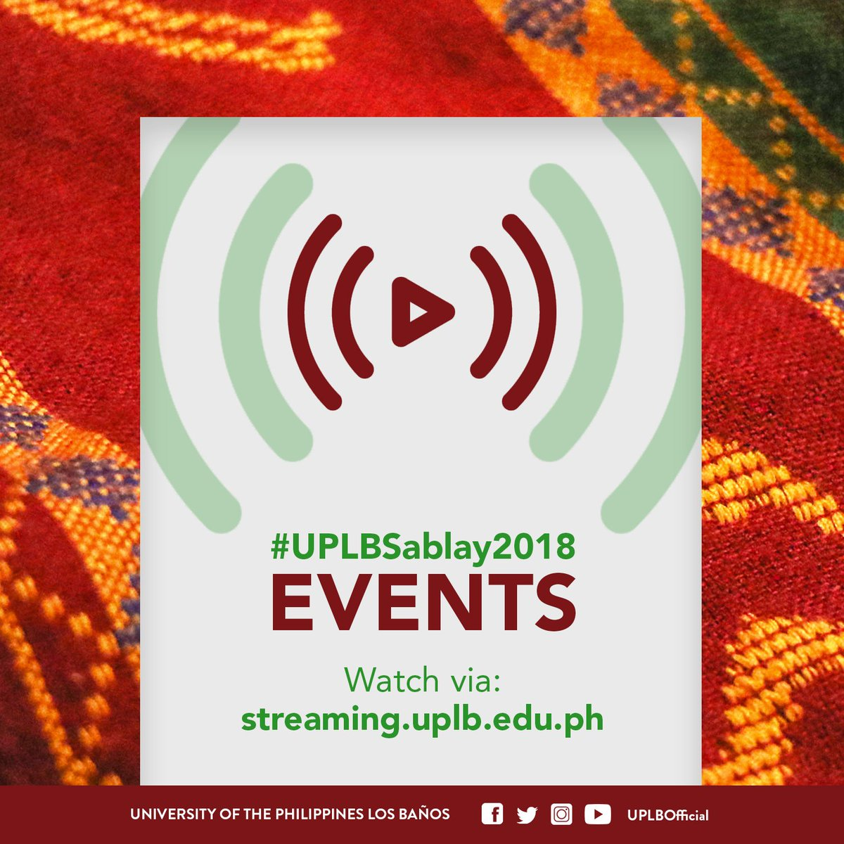 Banos Online.Up Los Banos On Twitter Watch The Uplbsablay2018 Events