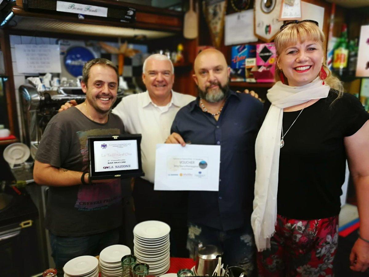 Concorso #LaTazzinadOro Complimenti al #Bar #Muccini di #Sarzana, vincitore del 2° #premio: un #Winetour a #Riomaggiore offerto da @arbaspaa!  - Ukustom