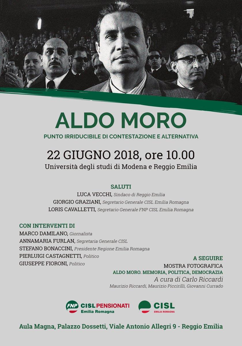 #ReggioEmilia La figura di #AldoMoro a quarant\