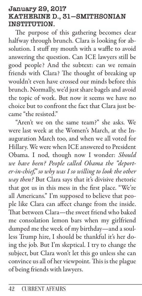 a silly bit on the impossibility of staying friends with ICE employees. from issue 12.