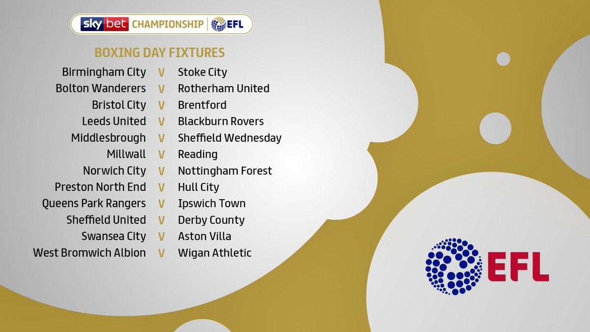 #FixtureReleaseDay: Boxing Day 🥊 View your clubs 2018/19 #EFL schedule >> po.st/Fixtures1819