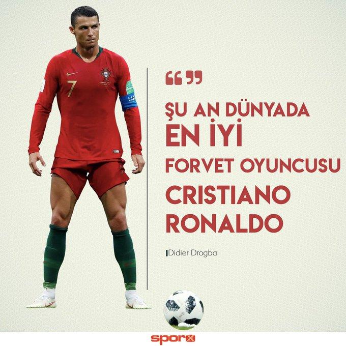 Cristiano Ronaldo en iyisi. Bir forvette olması gereken her özelliğe sahip, kafa vurabiliyor, sağ ve sol ayağıyla gol atabiliyor, frikik kabiliyeti var ve çok hareketli bir oyuncu. Onun gibi hep hareketli olan bir oyuncuyu savunmak çok zor ―🗣Didier DROGBA #POR Foto