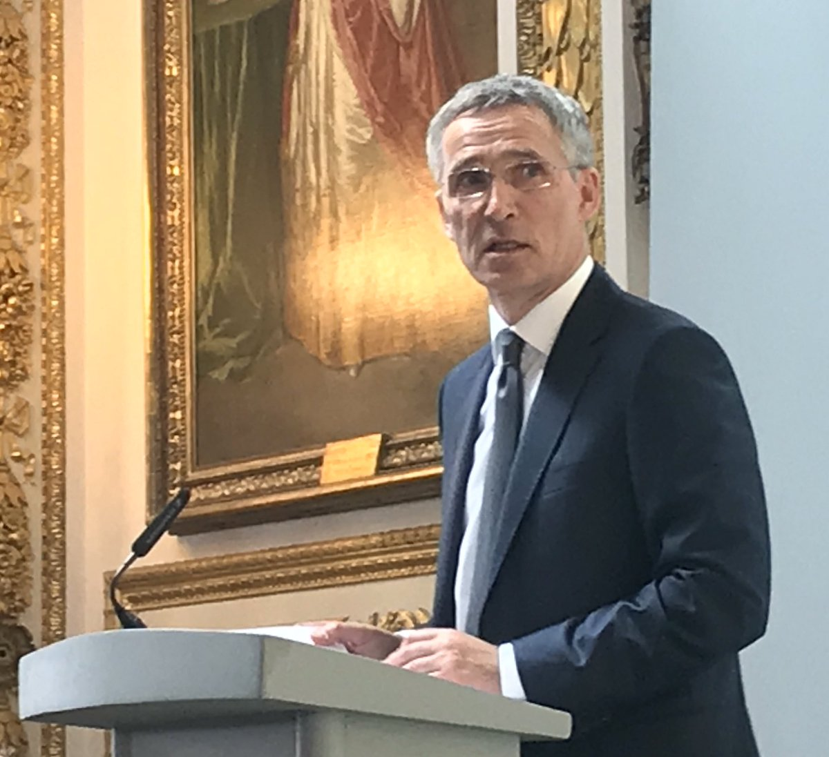 "@NATO Sec Gen @jensstoltenberg stated: ""By committing to continue to stay in Afghanistan, we are assisting with the success of the peace and reconciliation efforts in Afghanistan"" at the #NATO Pre-Summit briefing organised by Sir @marksedwill,UK NSA at @foreignoffice. #NATOsummit"