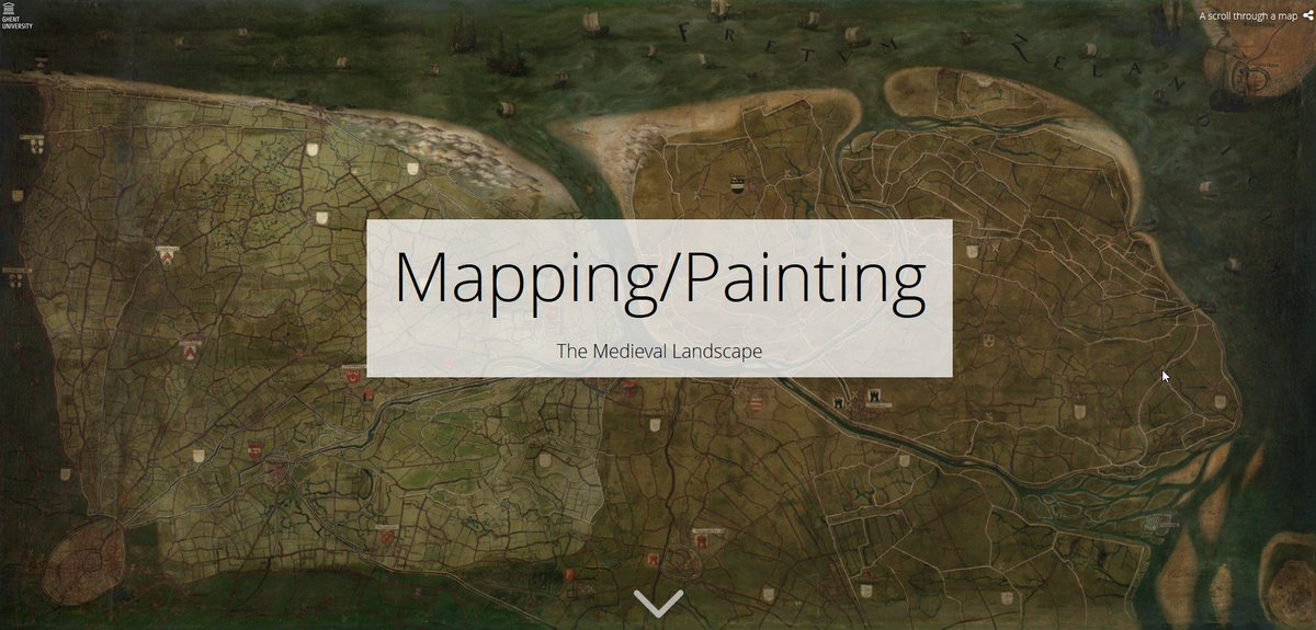 You can now scroll trough my new project website on #Pourbus #painting/#map of the #medieval #landscape around #Bruges  http://www. mappingpourbus.ugent.be  &nbsp;   #historical #cartography #archaeology #mapmaking #scicomm #StoryMaps<br>http://pic.twitter.com/QlNILndZIN