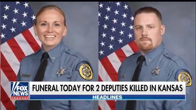 Two Sheriff's deputies killed in the line of duty to be laid to rest today in Kansas https://t.co/MA7V2qfejE