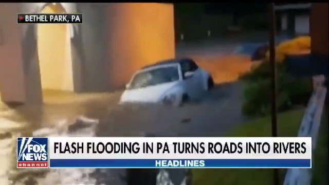 EXTREME WEATHER: Flash flooding in PA turns roads into rivers https://t.co/FD6U0Hgoka