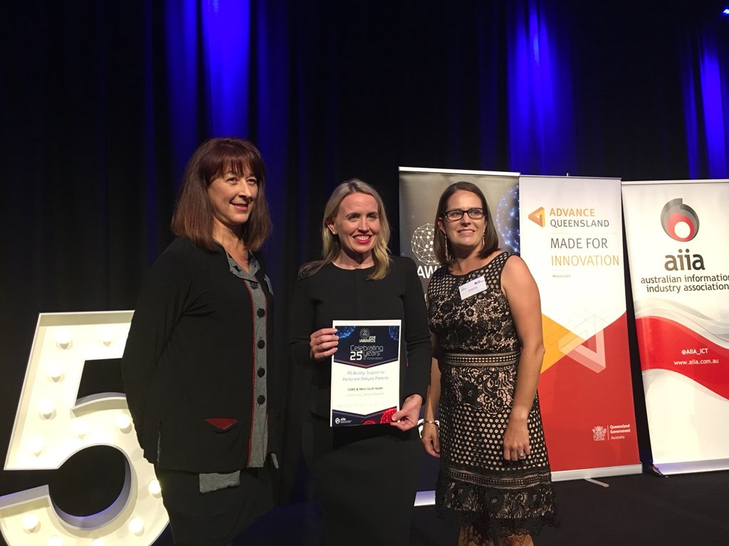 @CSIROnews @MetSthHealth @ehealthresearch with their Community Service Markets Merit for &#39;PD-Buddy: Support for Peritoneal Dialysis Patients&#39;! #iAwards #eHealth #mHealth #HealthApp #DigitalHealth<br>http://pic.twitter.com/BQDQKZqKz1