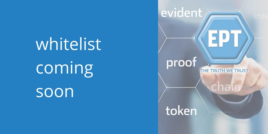 Stay tuned to our Telegram room &amp; news channel &amp; be one of the first to hear when our flash whitelist is announced:  https:// t.me/EvidentProofOf ficial &nbsp; …  &amp;  https:// t.me/EvidentProofAn nouncements &nbsp; …   #ICO #Blockchain #Immutable #Unhackable #AntiCounterfeiting<br>http://pic.twitter.com/ufQkcCBtUS