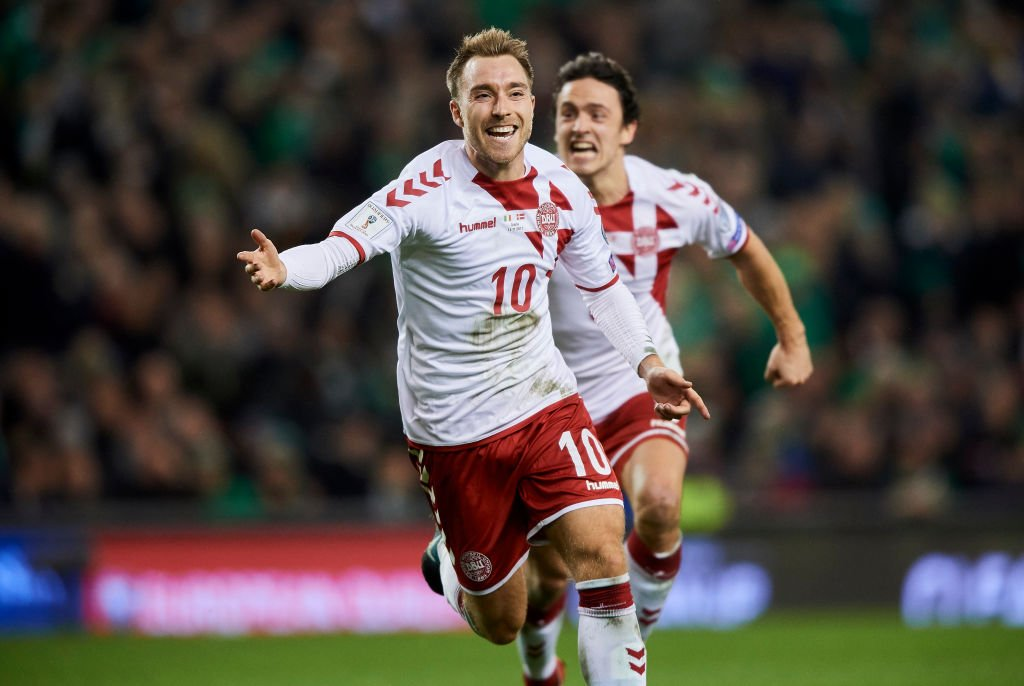 1⃣3⃣ goals 5⃣ assists  Christian Eriksen has been directly involved in 18 goals in his last 15 games for #DEN   That goal is up there with his best. #WorldCup