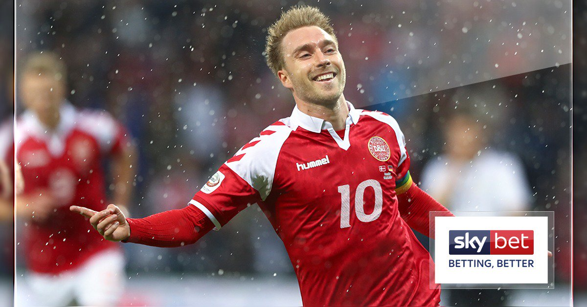 🚀 What a hit from #THFC's Christian Eriksen for #Den   🤔 Is there another team in the World Cup more reliant on one player in their squad? #DENAUS