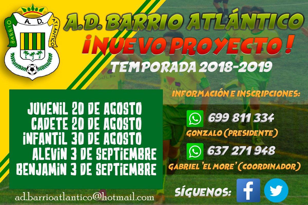 Nuevo proyecto del @BarrioAtlantico únete a nosotros ⚽️