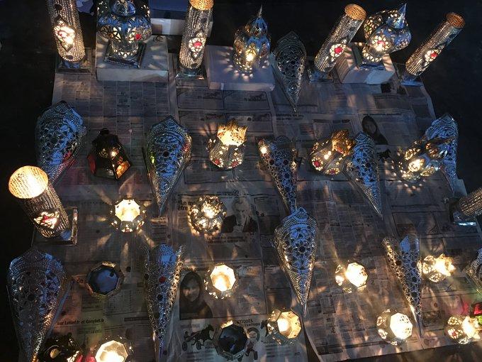 #Jeudiphoto : Bougies orientales chinées dans les souk de Marrakech🕯️😍🇲🇦 Photo