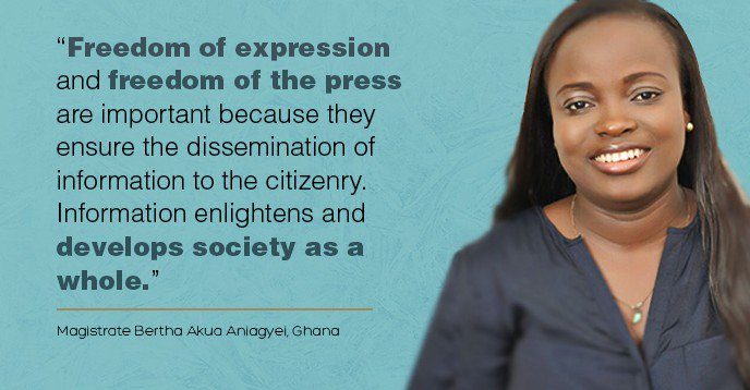 'If you are to participate in governance even outside of electoral periods, you can only do so if you have access to appropriate information' - Bertha Akua Aniagyei  Promoting #FreedomOfExpression = better democracies  📰 https://t.co/2Sqq9EDcTY